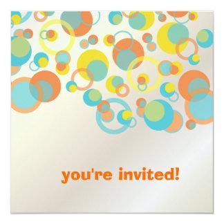 Mod bubbles/contemporary Invitations