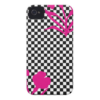 Mod Checkers and Flowers Case-Mate iPhone 4 Case
