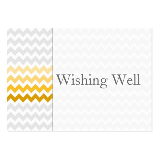 Mod chevron yellow ombre wishing well cards business card