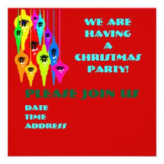 Mod Christmas Holiday Invitations