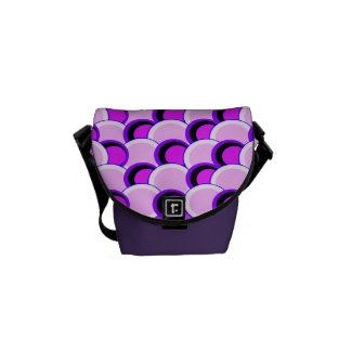 Mod Circles Pink and Purple Messenger Bags