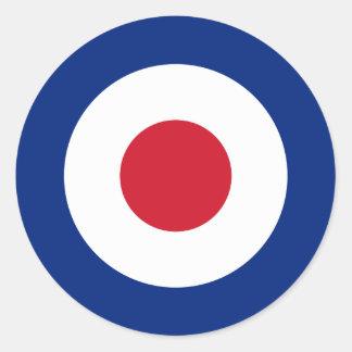 Mod - Classic Roundel - Bullseye Archery Target Classic Round Sticker