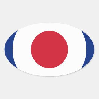 Mod - Classic Roundel - Bullseye Archery Target Oval Sticker