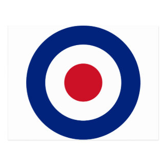 Mod - Classic Roundel - Bullseye Archery Target Postcard
