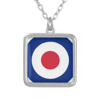 Mod - Classic Roundel - Bullseye Archery Target Silver Plated Necklace