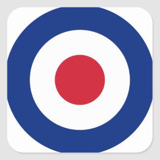 Mod - Classic Roundel - Bullseye Archery Target Square Sticker