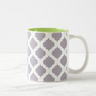 Mod Coffee Mug in Purple and Green