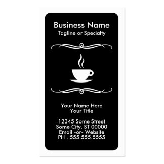 mod coffee stamp card pack of standard business cards