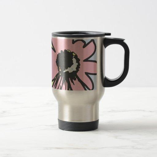 Mod daisy pale yellow, pink and blue pattern coffee mug
