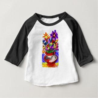 Mod Digital Flower Bouquet 2017 Baby T-Shirt
