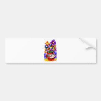 Mod Digital Flower Bouquet 2017 Bumper Sticker