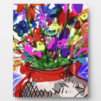 Mod Digital Flower Bouquet 2017 Plaque
