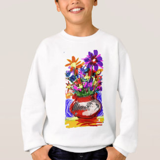 Mod Digital Flower Bouquet 2017 Sweatshirt
