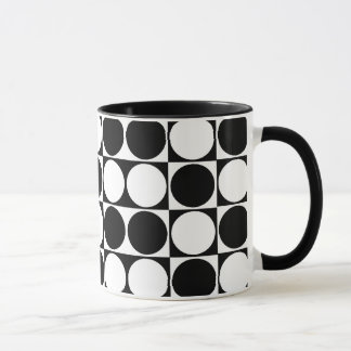 Mod Dots Black & White Designer Mug