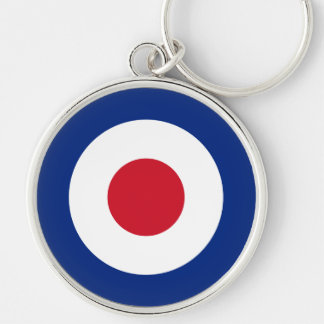 MOD Fashion British Design Keyring Scooter / Vespa Silver-Colored Round Key Ring