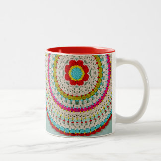 Mod Floral Mandala 11 oz Two-Tone Mug