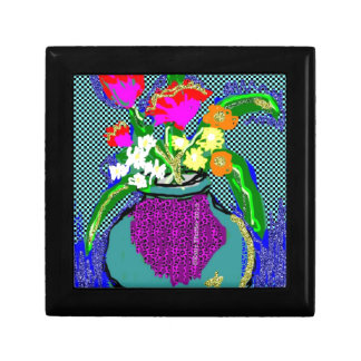 Mod Flower Bouquet When Im Feeling blue Gift Box