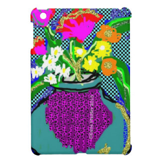 Mod Flower Bouquet When Im Feeling blue iPad Mini Cases