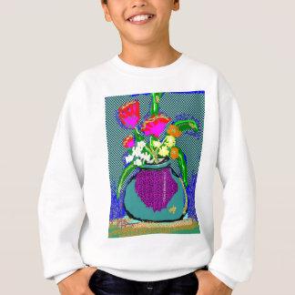 Mod Flower Bouquet When Im Feeling blue Sweatshirt