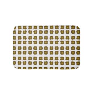 Mod flower design pattern bath mat