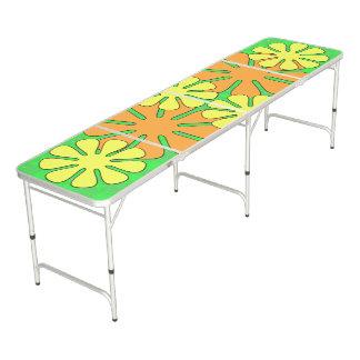Mod Flower Design Pong Table