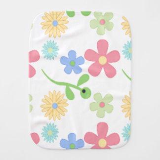 Mod Flowers Baby Burp Cloths