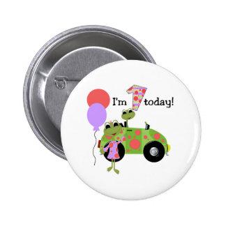 Mod Frogs 1st Birthday 6 Cm Round Badge