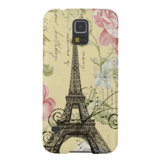 Mod Girly  floral Vintage Paris Eiffel Tower Case For Galaxy S5