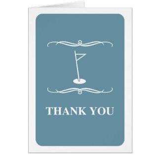 mod golf : thank you card