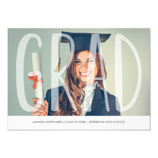 Mod Grad Letters Photo Graduation Announcement