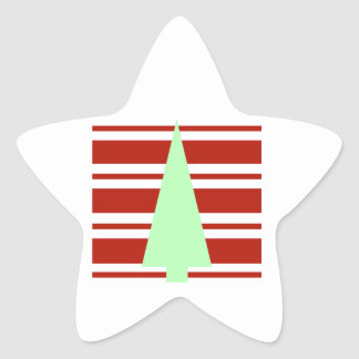 Mod Green and Red Christmas Tree Sticker