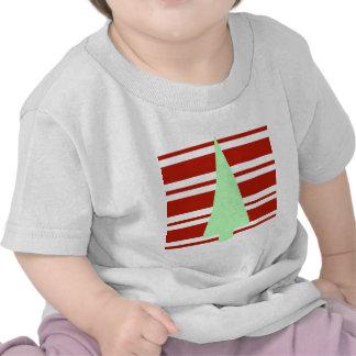Mod Green and Red Christmas Tree Shirts