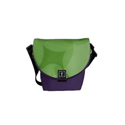 Mod Green Circles Messenger Bags