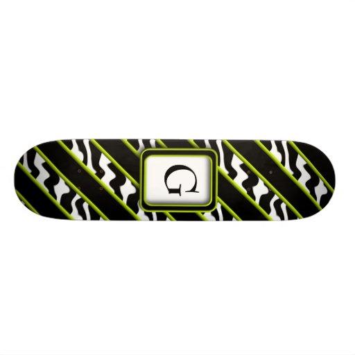 Mod Green Zebra Skateboard Deck