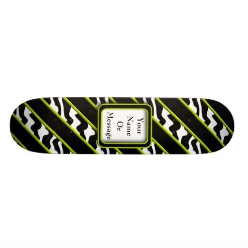 Mod Green Zebra Skate Board Decks