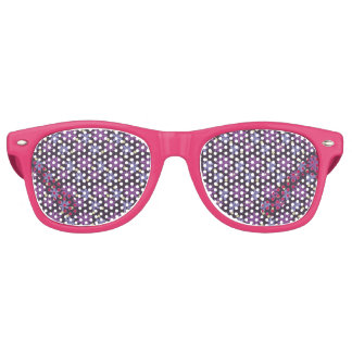 Mod Groovy flowers in lilac and purple Retro Sunglasses