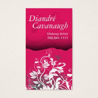 Mod Grunge Floral Makeup Artist template Business Card