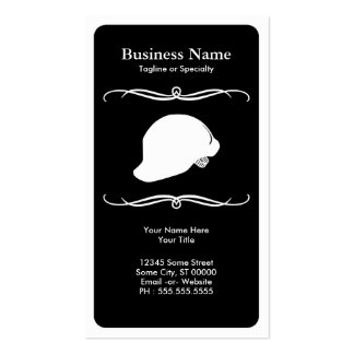 mod hard hat pack of standard business cards