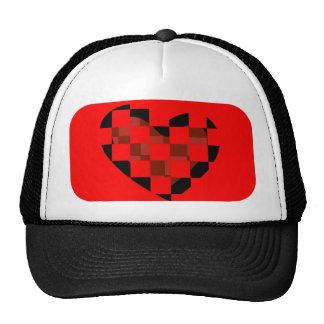 mod heart mesh hat