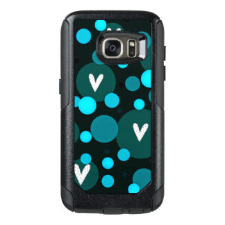 Mod-Hearts-Blue-APPLE-SAMSUNG OtterBox Samsung Galaxy S7 Case
