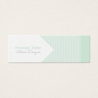 Mod Herringbone Design - Customise BG Colour Mini Business Card