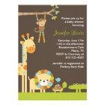 Mod Jungle Safari Baby Shower Invitation Custom Announcement