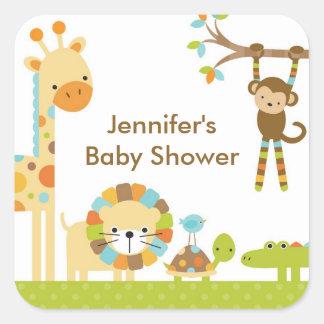 Mod Jungle Safari Baby Shower Stickers