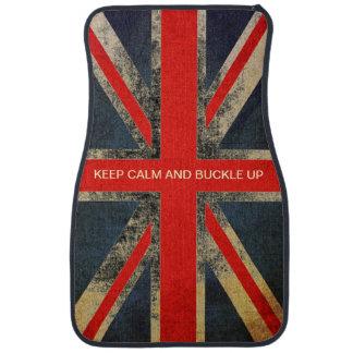 Mod Keep Calm And Buckle Up Union Jack Car Mats