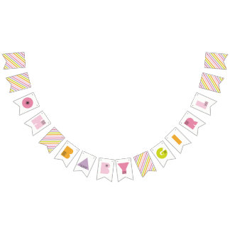 Mod Mama Oh Baby Girl Bunting Banner