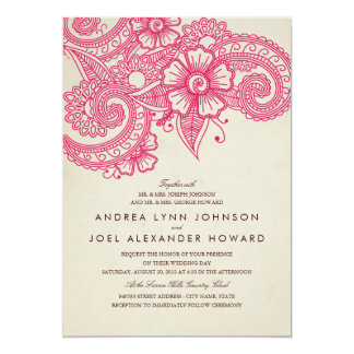 Mod Mehandi Wedding Invitation
