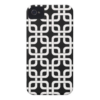 Mod Mid-Century Modern Rounded Corner Square Retro iPhone 4 Cover