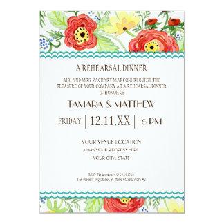 Mod Modern Floral Ranunculus Leaf Rose Bracket 13 Cm X 18 Cm Invitation Card