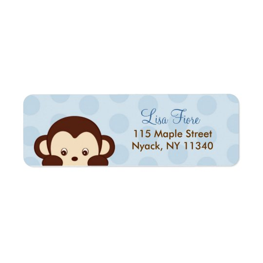 Mod Monkey Baby Shower Address Labels