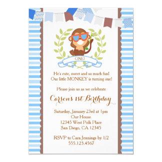 Mod Monkey Boy Birthday Invitation